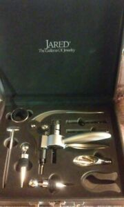 JARED JEWELERS 9 PIECE BOXED WINE SET NEW RARE LIMITED