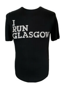 Rare Nike Run Glasgow Black Dri Fit T Shirt With White Angel Wings Size Small $183.52