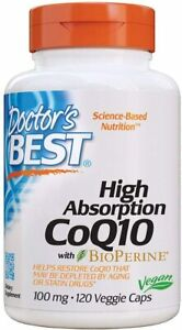 Doctor's Best High Absorption CoQ10 with Bioperine® 100 mg 120 Veggie Caps
