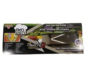 Chefs Envy Master Cut 2 Kitchen Mandolin Slicer Dicer Shred Chop EuroGourmet NEW