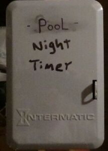 Pool Timer Intermatic T103 40 Amp Type 1 24 hour 120 VAC Steel Mechanical Timer