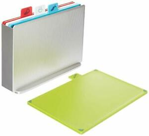 Joseph Joseph 60131 Index Plastic Cutting Board Set with Storage Case Color-Code