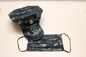 Handmade face mask US Navy Military Camouflage digital Fabric reversible