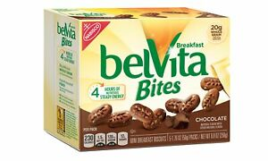 belVita Chocolate Mini Breakfast Biscuit Bites, 5 Packs