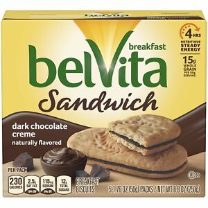 Dark Chocolate Breakfast Biscuits, 5 Packs, 8.8 Oz.