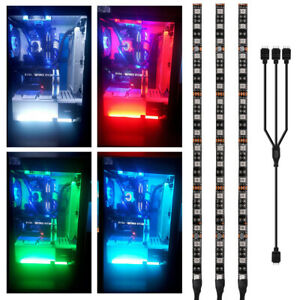 3x RGB PC Case Gaming LED Strip Light 5050 for Asus Aura Mid Tower Gamer LD1970 $12.59