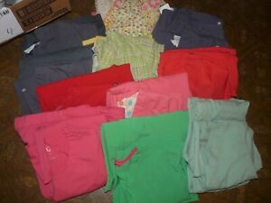 GUC Women#x27;s Scrub Sets Shirt amp; Pants Multiple Brands Color amp; Sz Nurse Healthcare