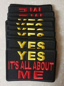 LADIES YES ITS ALL ABOUT ME BIKER PATCH NEW NICE $6.00