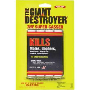 The Giant Destroyer - The Super Gasser Bomb 4 Pack Kills Moles And Gophers etc