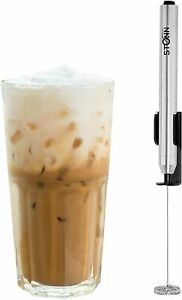 Stainless Steel Electric Handheld Milk Frother Foam Maker for Cappuccino Etc