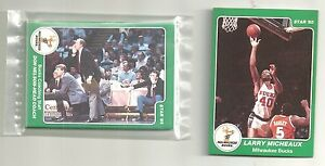 1985 Star Company 13 card Milwaukee Bucks Card Nite team Set incl Larry Michaux
