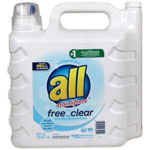 All 2X Ultra with Stainlifter Free & Clear Laundry Detergent- 250oz/166 Loads