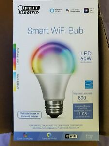 4 PACK FEIT SMART WIFI BULBS NIB COLOR CHANGING DIMMABLE A19