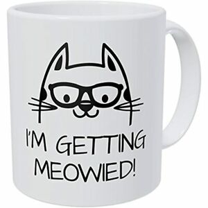 Wampumtuk Cat I#x27;m Getting Married Meowied 11 Ounces Funny Coffee Mug Kitchen $17.92