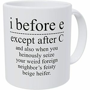 Wampumtuk Grammar I Before E Except After C And Also When You Feisty Beige 11 $17.92