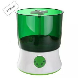 Digital Home DIY Bean Sprouts Maker 2 Layer Automatic Electric Germinator Seeds