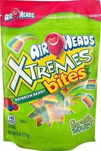 Airheads Xtreme Rainbow Berry Bites Candy 9 ounce 3 PACKAGES rainbow