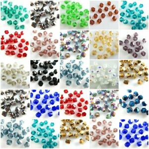 500Pcs Bulk Faceted Bicone Crystal Glass Beads Loose Jewelry Findings 4mm Beads $3.79