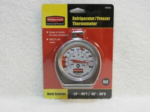 Commercial Grade Stainless Steel Instant Read Refrigerator/Freezer Thermometer