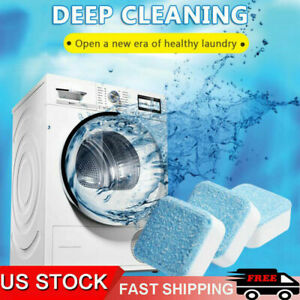 5 20PACK Effervescent Tablet Washer Deep Cleaning Solid Washing Machine Cleaner