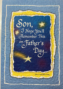 Son on fathers day i will tuck all the hugs inside this card stay healthy praye