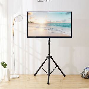 Tripod Portable Floor TV Stand Height Adjustable Mount 32-60