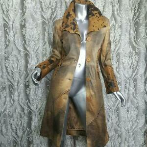 NWT~$2400~MANZARI MILANO~36XSS~GENUINE LEATHER REAL PONY HAIR FUR COAT JACKET