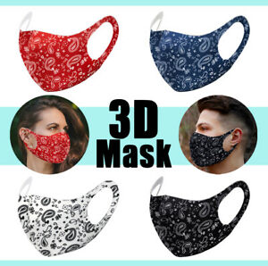 4 Pack Face Mask Paisley Fashion Bandana Reusable Washable Protection Cover