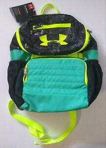 Under Armour Youth Unisex UA Large Fry Backpack, Black Green, 008 $38.97