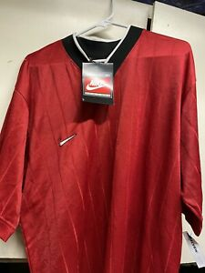 Vtg Team Nike Fit Sports Jersey Shirt Red Black Mens Sz Xlarge NEW $22.00