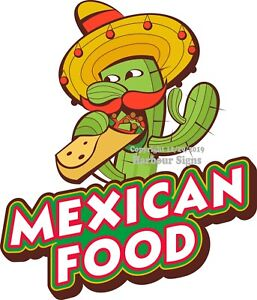 Mexican Food DECAL (Choose Your Size) Food Truck Sign Concession Sticker