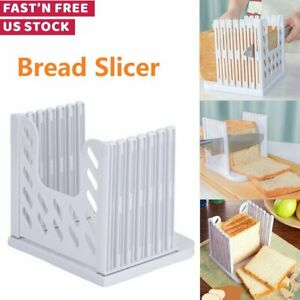 Bread Slicer Toast Sanwich Slicing Machine Adjustable Thicknesses Bread Cutter