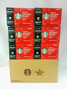 Starbucks Coffee 2019 Holiday Blend KEURIG K Cups Pods 60 Count $24.95