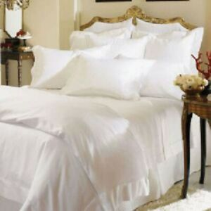Sferra Italian Sateen 100% Long Staple Cotton King Sheet Set Solid White