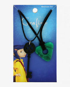 CORALINE KEY & SEEING STONE PENDANT NECKLACE SET Laika Officially Licensed