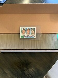 1982 Topps Baseball Complete Set Ripken Jr rookie