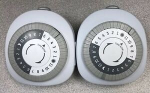 Lot 2 Timers GE 24 Hour Plug In Mechanical With 1 Polarized Outlet R4