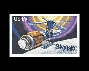 Skylab Wall Art Print First US Space Station Space Exploration Space Art $19.95