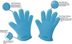 Silicone Gloves Set of 2 Cooking Baking Grilling Fire amp; Heat Resistant