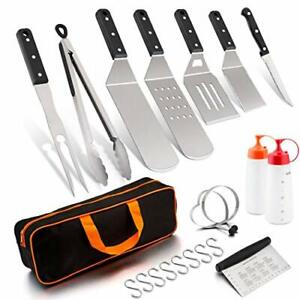 Griddle Barbecue Accessories Stainless Steel Tool Set Griddle Grill Spatula Set
