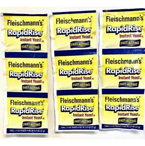 3-Strips (9-Packets) Fleischmann's RAPID RISE INSTANT YEAST, For Bread
