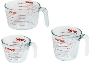 Measuring Cups,Muti Cup Capacity Measuring,3PCS,Clear