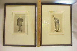 2 Antique Lithographs Sir William Crookers James Paget Bart = Vanity Fair SPY $49.99