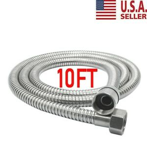 10Ft Shower Head Hose Extra Long 3M Stainless Steel Hand Held Bathroom USA