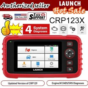 LAUNCH X431 CRP123 X OBD2 FULL Diagnostic Scanner Tool ABS SRS Engine Clear Code $159.00