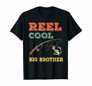 Reel Cool Big Brothers Gift Older Brother Boys Fishing Gift T Shirt $16.95