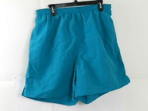 Down Under Mens Vintage Swim Trunks Shorts Teal Blue Size L $16.99
