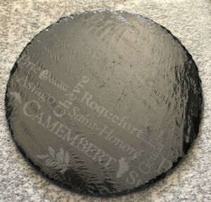Natural Slate Stone Round Chopping & Serving Board Tray Cheese Cutting Platter N