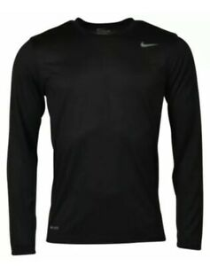NWT Men's Nike Dry Black XLarge Long Sleeve Crew Tee $19.99