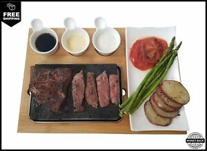 Cooking Stone - Complete Set Lava Hot Steak Stone Plate and Cold Lava Rock